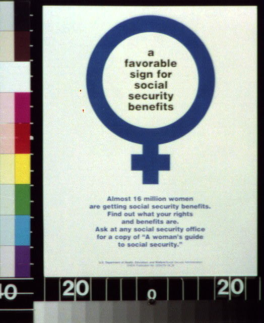 [Reproduction of Mirror of Venus symbol] : a favorable sign for Social Security benefits