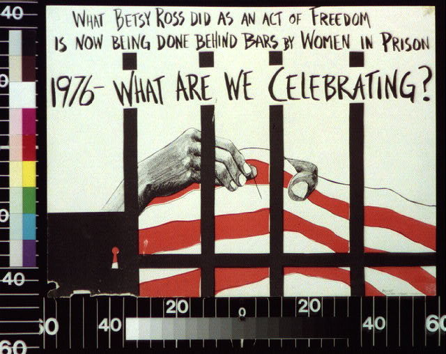 What Betsy Ross did as an act of freedom is now being done behind bars by women in prison : 1976 -- what are we celebrating?