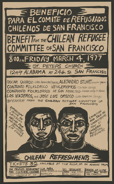 Benefit for the Chilean Refugee Committee of San Francisco