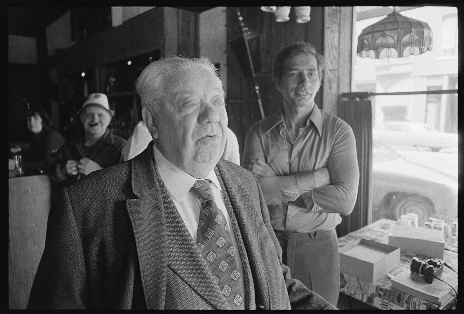 Mr. Roland Libonati, Chicago, Illinois; morra-players at Mama Sue's Restaurant, Chicago, Illinois