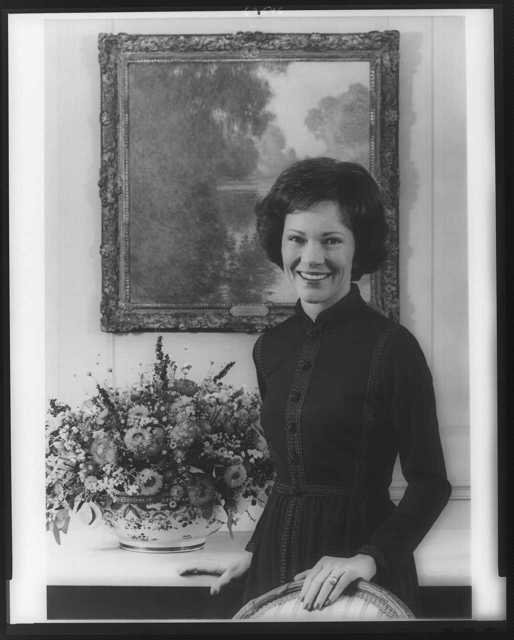 [Mrs. Jimmy Carter, half-length portrait, standing, facing front]