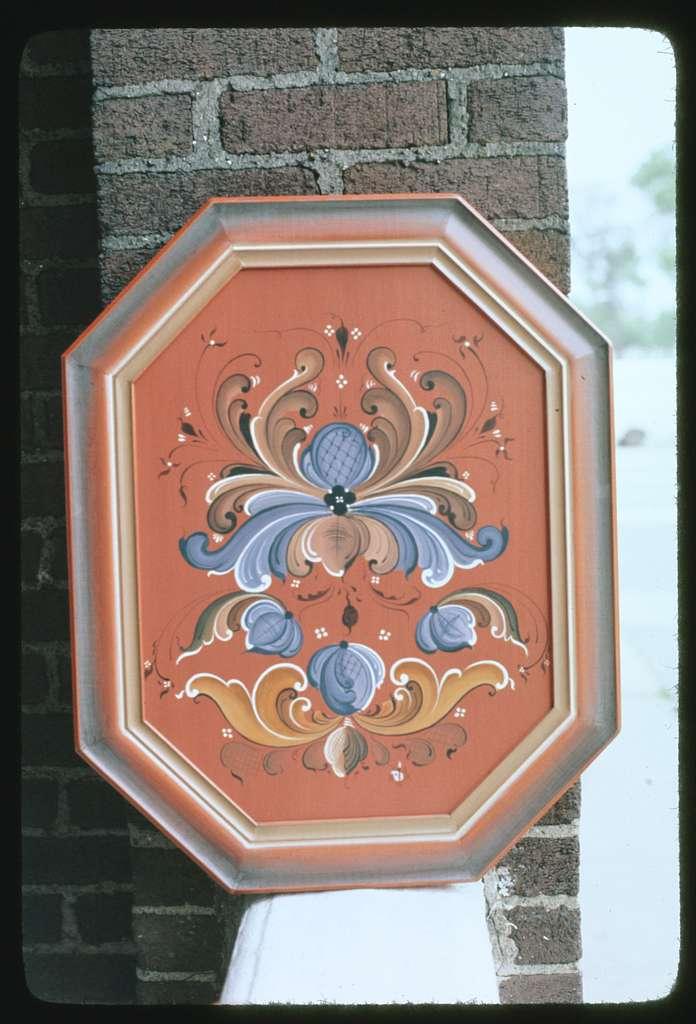 Norwegian rosemaling at Norway Center, 2350 N. Kedzie Blvd., Logan Square, Chicago, Illinois