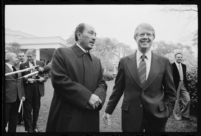 [President Jimmy Carter and Egyptian President Anwar Sadat at the White House, Washington, D.C.]
