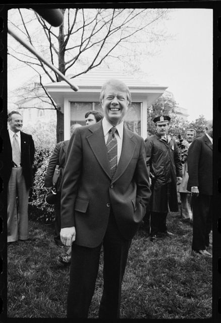 [President Jimmy Carter during Egyptian President Anwar Sadat's visit to the White House, Washington, D.C.]