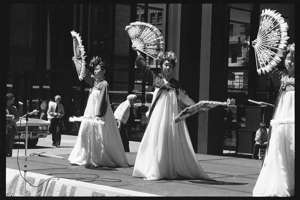 Rehearsal of the Estudiantina de San Pio; Civic Center Plaza Ethnic Dance Festival, Chicago, Illinois