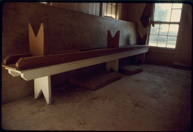 Benches in Bunkhouse