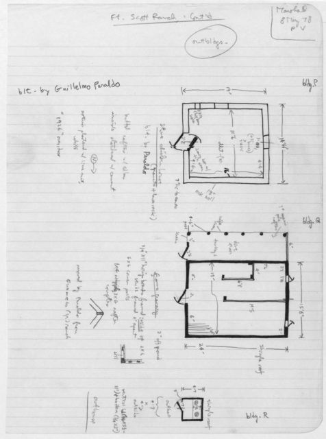 Chicken House Plan (top); Granary Plan (center); Outhouse Plan (bottom), Fort Scott Ranch