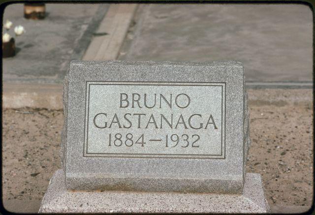Gravestone of Bruno Gastanaga