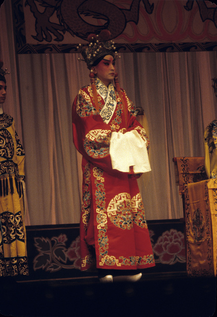 [Actor in the role of a granddaughter in the Peking Opera]