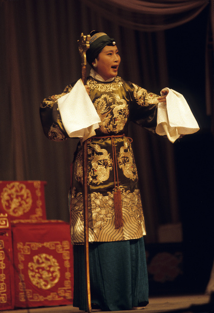 [Actor in the role of a grandmother in the Peking Opera]