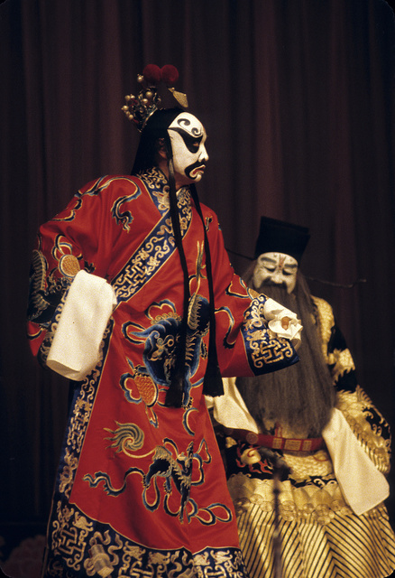 "[Actors in the role of ""bad guys"" in the Peking Opera]"