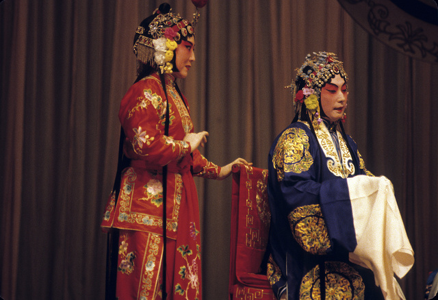 [Actors portraying women in the Peking Opera]