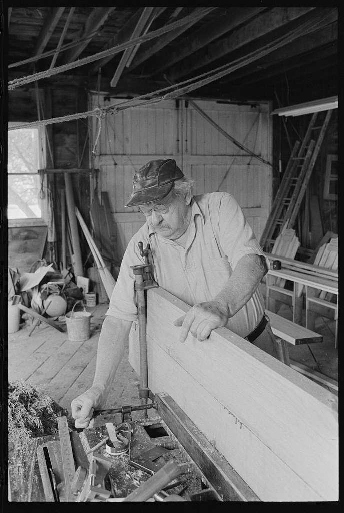 Alfred Potter, quahaug (quahog) boat building, Wickford, Rhode Island