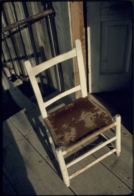 Chair with Cowhide Seat