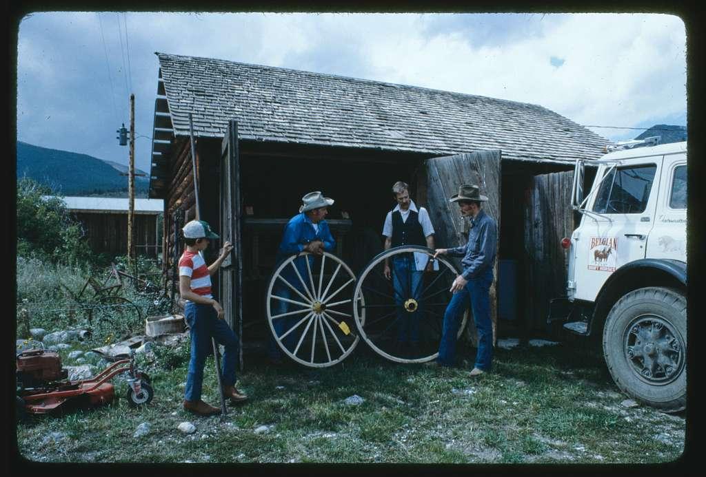 Charlie Landfried, wheelwright, cartwright from Limestone, Montana