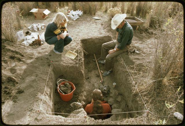 Excavating Feature 3