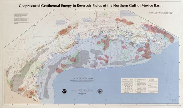Geopressured-geothermal energy in reservoir fluids of the northern Gulf of Mexico Basin /