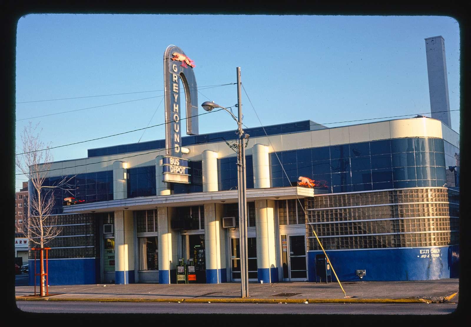 Greyhound Bus Depot, vertical view, Columbia, South Carolina