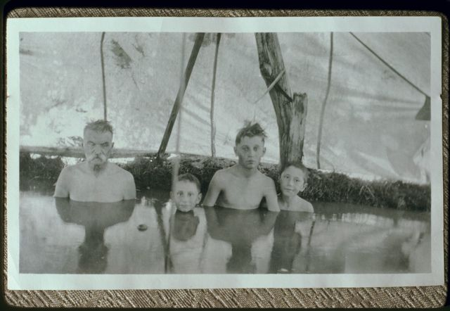 Group Portrait at Hot Springs in Paradise Valley, ca. 1918