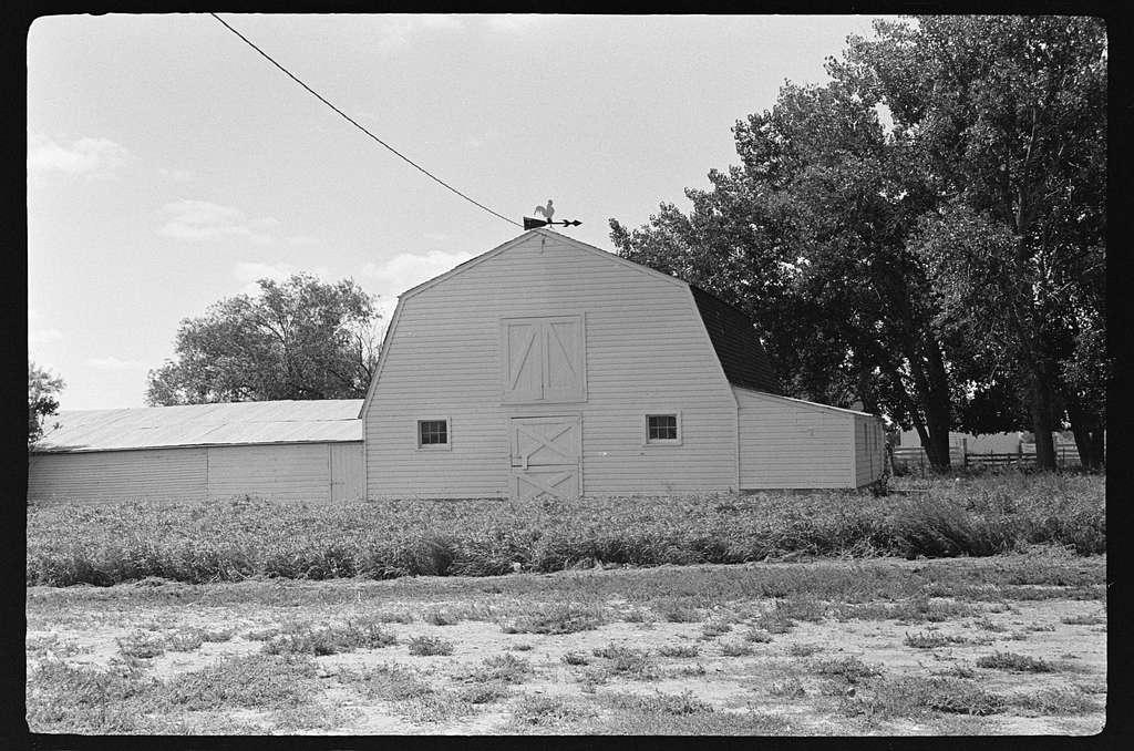 Home of George and Frieda Rebhuan, Kinsey, Montana. George Stokes, Miles City, Montana