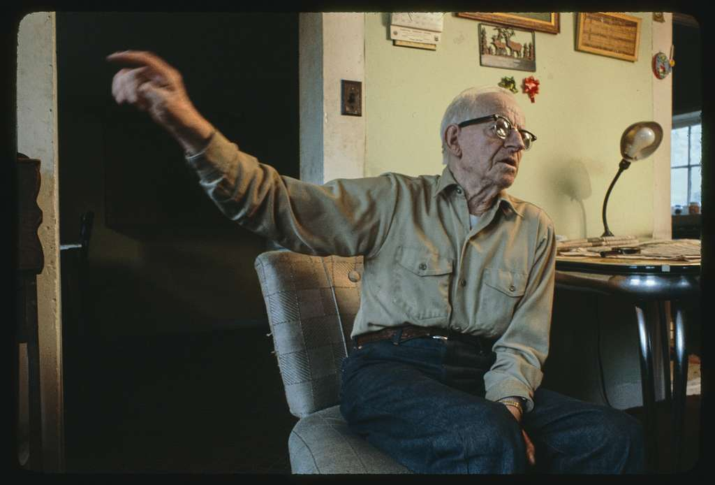 Interview with Charley Russell, retired sheepherder from Limestone, Montana; Interior of Nye, Montana bar (North Dakota humor)