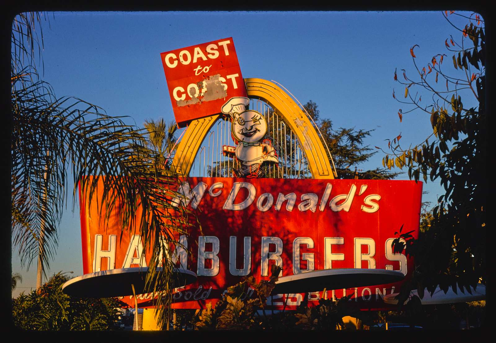 McDonald's Restaurant sign, detail one, Route 66, Azusa, California