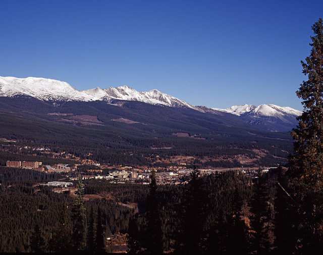 A summertime look at the Colorado ski resort of Vail