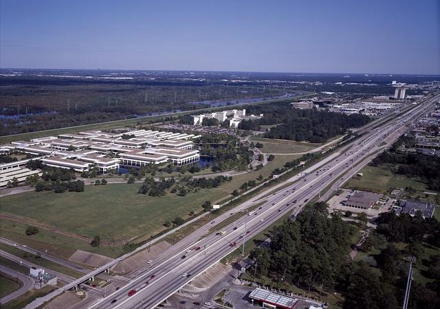 [Aerial of Houston, Texas]