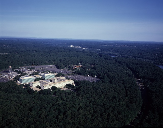 Aerial view of CIA headquarters, Langley, Virginia