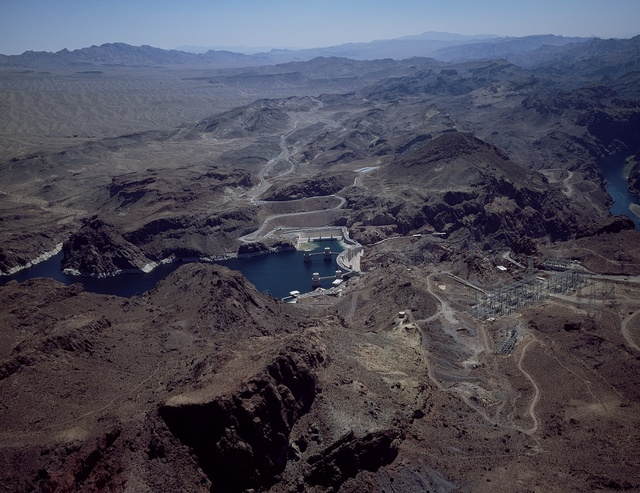 Aerial view of Hoover Dam, Nevada