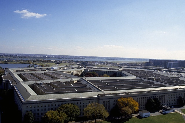 Aerial view of the Pentagon, Arlington, Virginia
