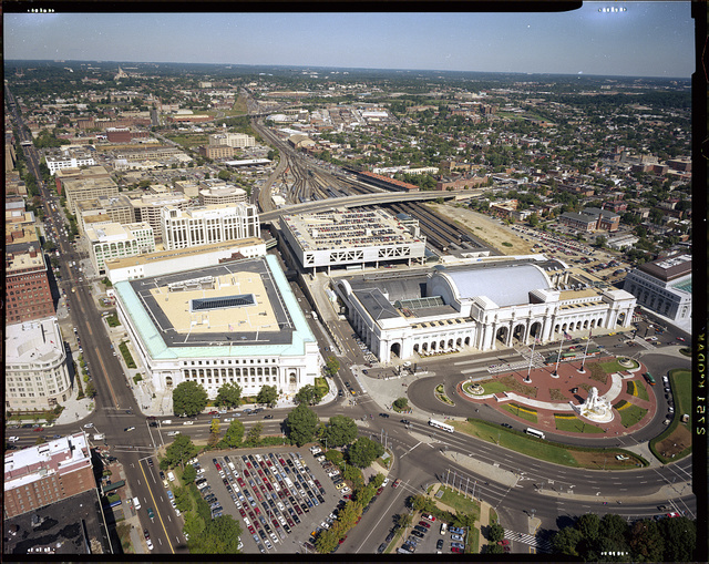 [Aerial view of Union Station, Washington, D.C.]