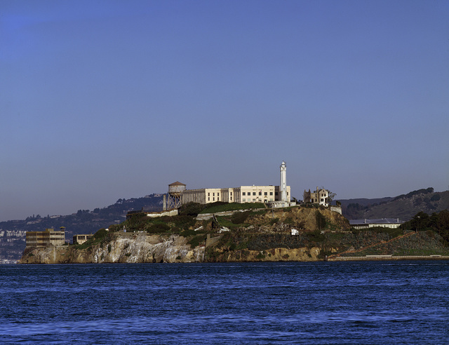 Alcatraz Island is an island located in the San Francisco Bay, 15 miles offshore from San Francisco, California
