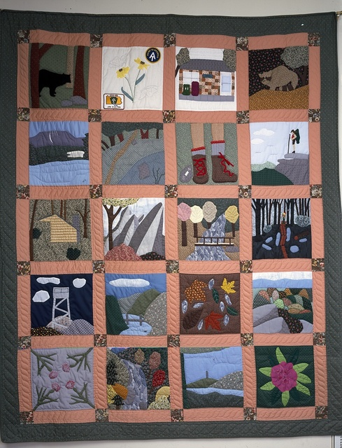 Appalachian Trail quilt on display in Harpers Ferry, West Virginia