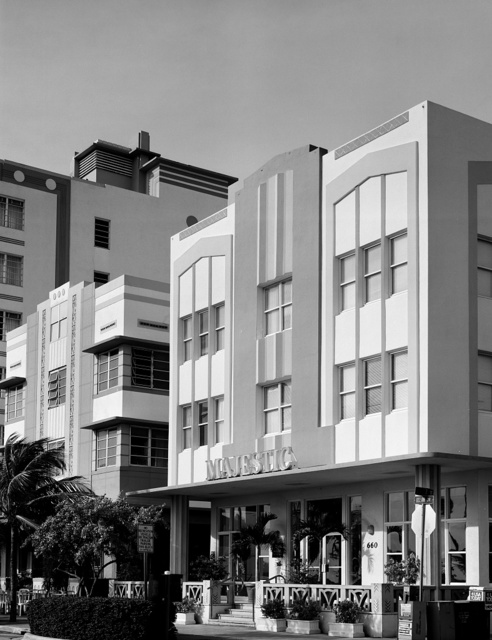 Art deco building in South Beach neighborhood of Miami Beach, Florida