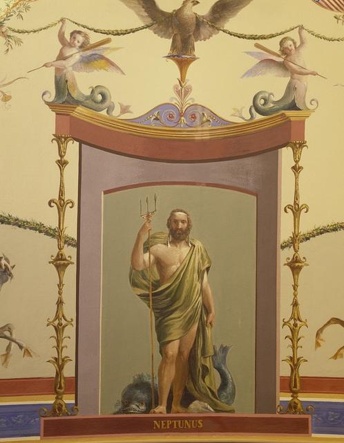 """Art (""""Neptunus"""") in the U.S. Capitol, Washington, D.C."""