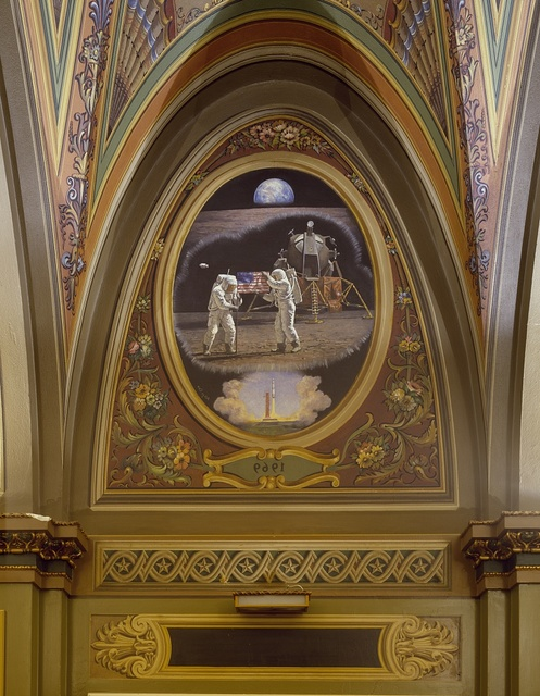 Art on the walls of the U.S. Capitol, Washington, D.C.