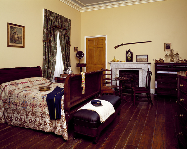 Bedroom at Arlington House, the former Robert E. Lee mansion, Arlington, Virginia
