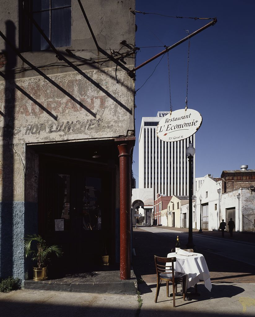 Bistro on the corner, Warehouse District, New Orleans, Louisiana