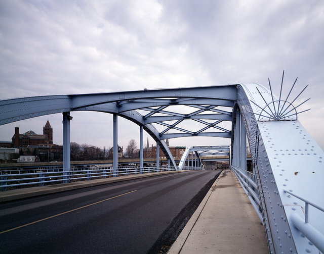 Blue Bridge over the north branch of the Potomac River, Cumberland, Maryland