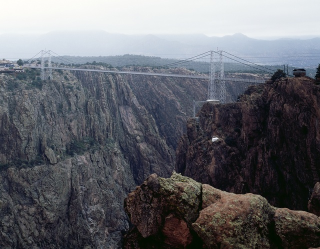 Bridge over the Royal Gorge, the world's highest suspension bridge, completed in 1929, Cañon City, Colorado