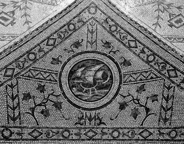 Ceiling mosaic detail at the Thomas Jefferson Building of the Library of Congress, Washington, D.C.