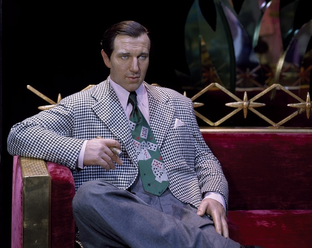 """Celebrities cloned at Madame Tussaud's Wax Museum inside the Venetian Hotel include the mobster Benjamin """"Bugsy"""" Siegel, who built the Flamingo Hotel. Las Vegas, Nevada"""