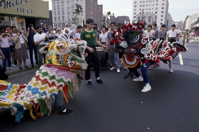 chinese new year celebration in chinatown in washington dc library of congress 1980 - Chinese New Year 1980