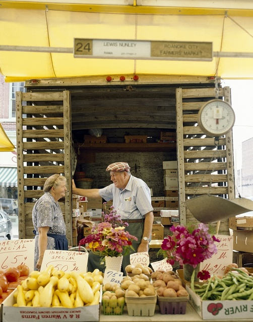 City Market, a farmers' market in the heart of Roanoke, Virginia