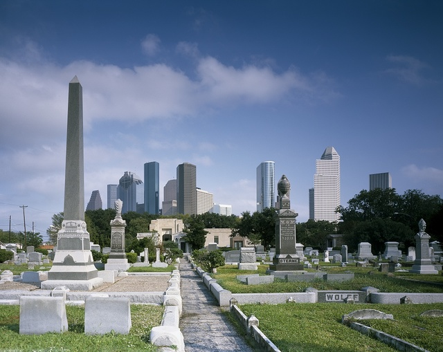 Cityscape from Beth Israel Cemetery, Houston, Texas