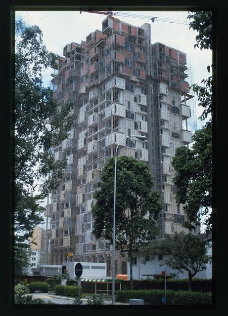 [Colonnade Condominium, Grange Road and Orchard Road, Singapore. View of tower under construction]