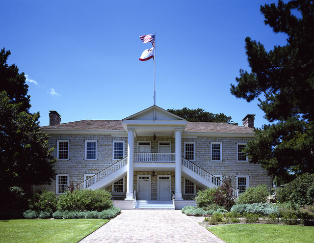 Colton Hall, built in the 1840s by Walter Colton, a former chaplain who became Monterey, California's first mayor when the Americans took over the area from Mexico