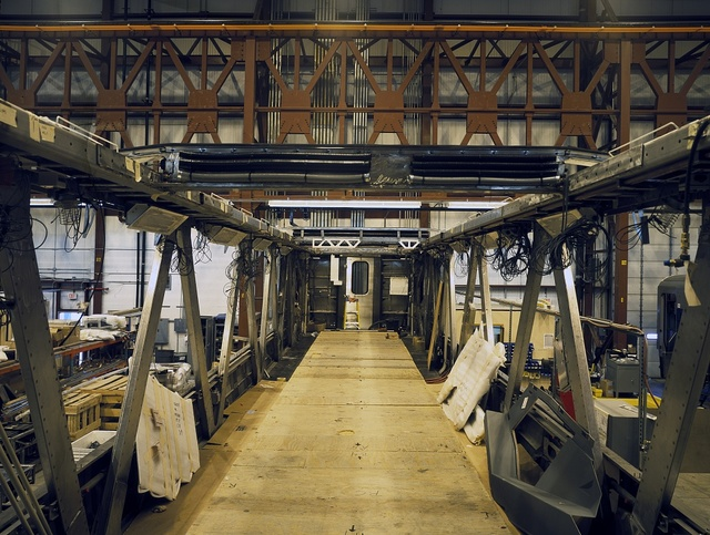 Construction of Amtrak's new Acela Express trainset, Barre, Vermont