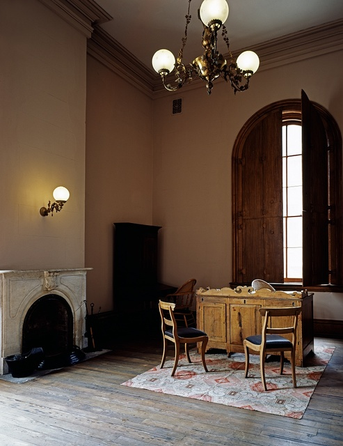 Corner of the courtroom in Independence Hall, Wheeling, West Virginia